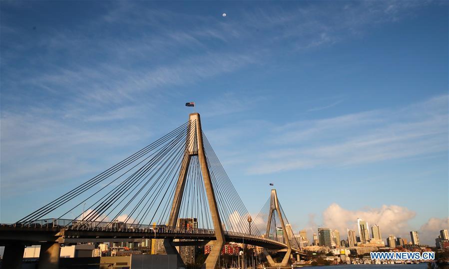 Scenery of Anzac Bridge in Sydney, Australia