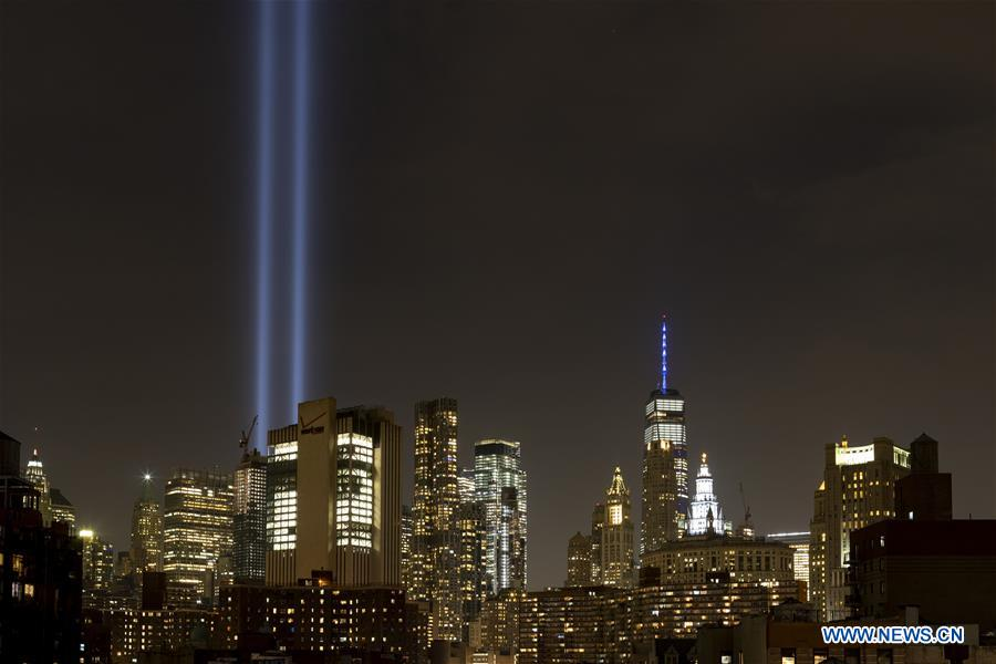 18th anniv. of 9/11 attacks marked across U.S.