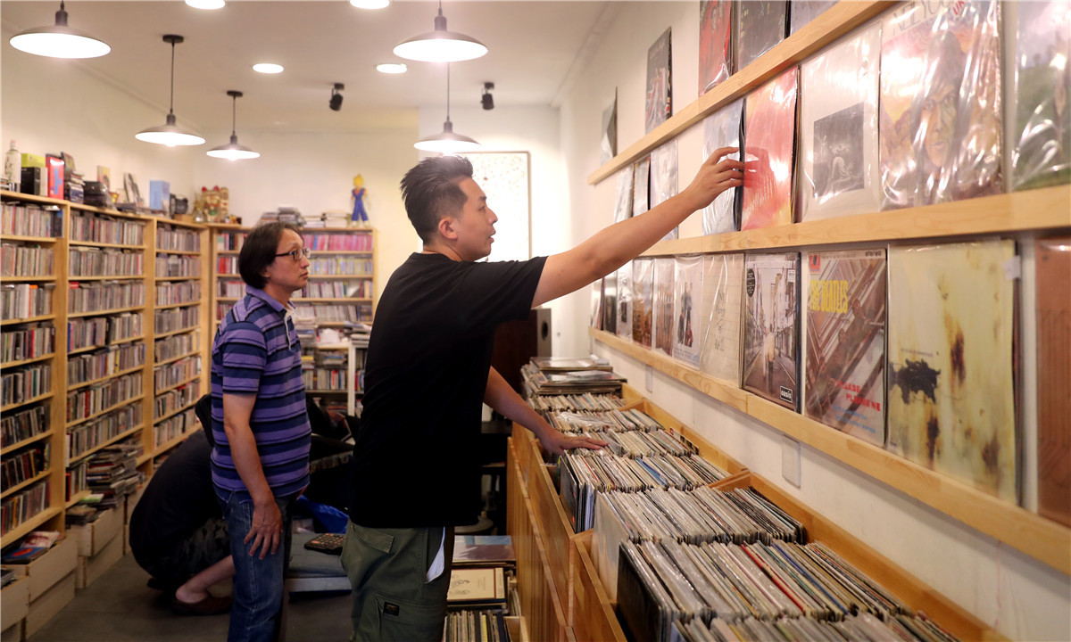 Music shop lifts vinyl out of its death spin