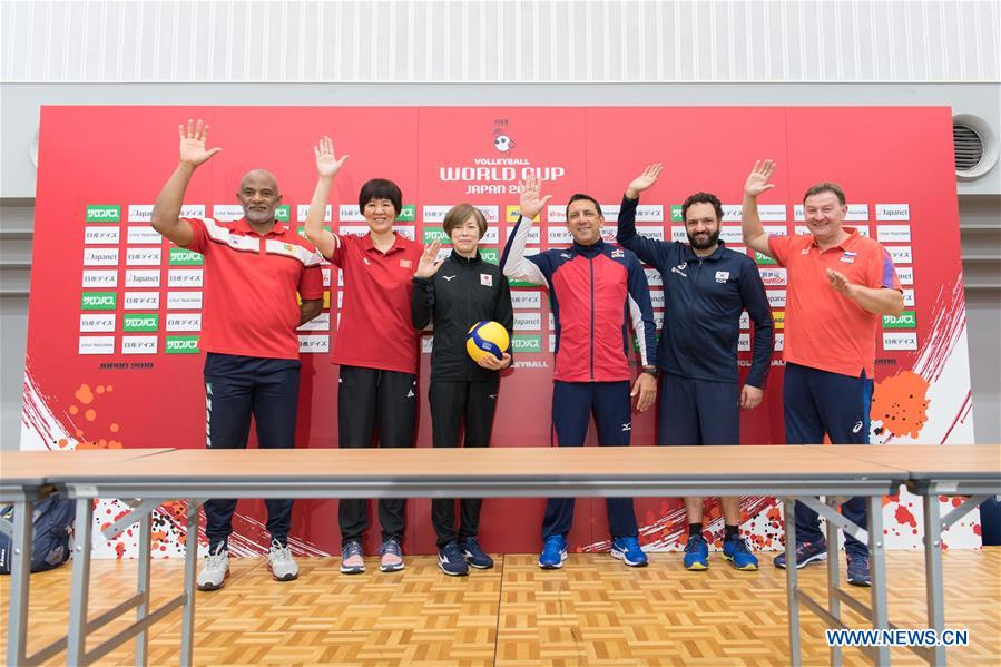 Press conference for 2019 Volleyball Women's World Cup held in Yokohama, Japan