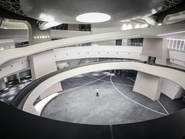 Shanghai Planetarium illuminated for first time to celebrate Mid-Autumn Festival
