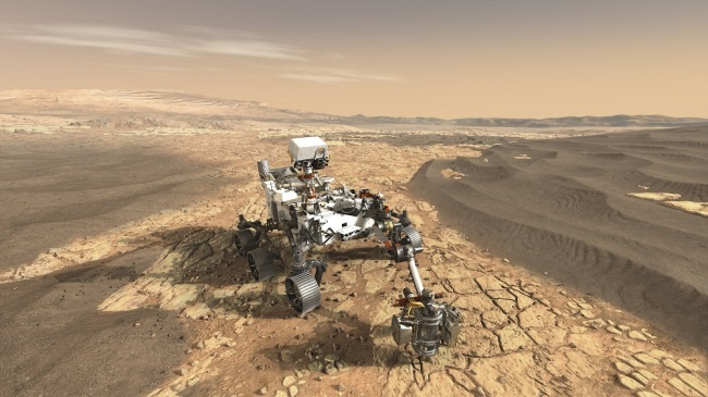NASA's Mars 2020 rover undergoes first spin test