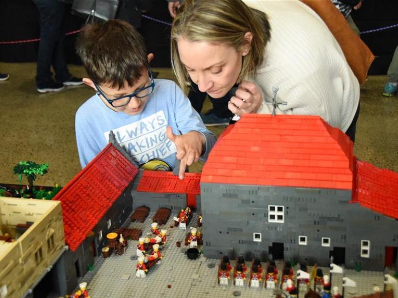 Lego exhibition held in Wellington, New Zealand