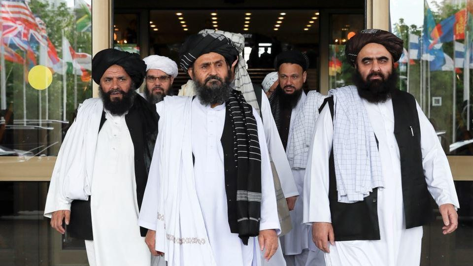 Afghan Taliban send team to Russia after U.S. talks collapse