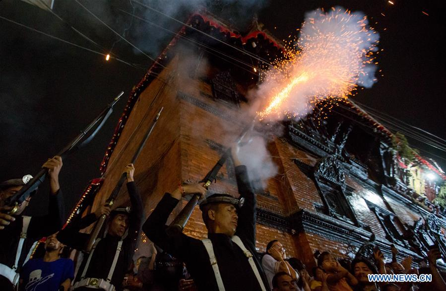 Indrajatra festival celebrated in Kathmandu, Nepal