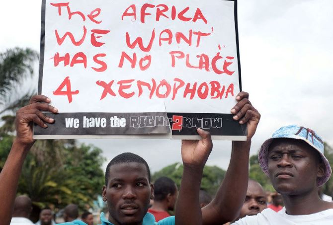 S. Africans and foreigners march against xenophobia