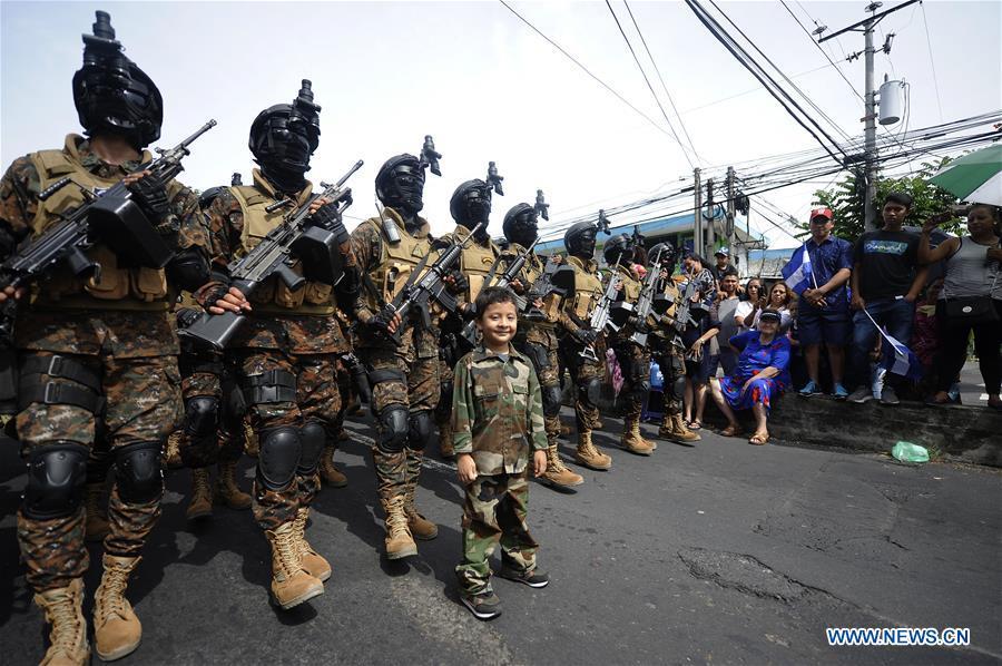Celebration for Independence Day of El Salvador held in San Salvador