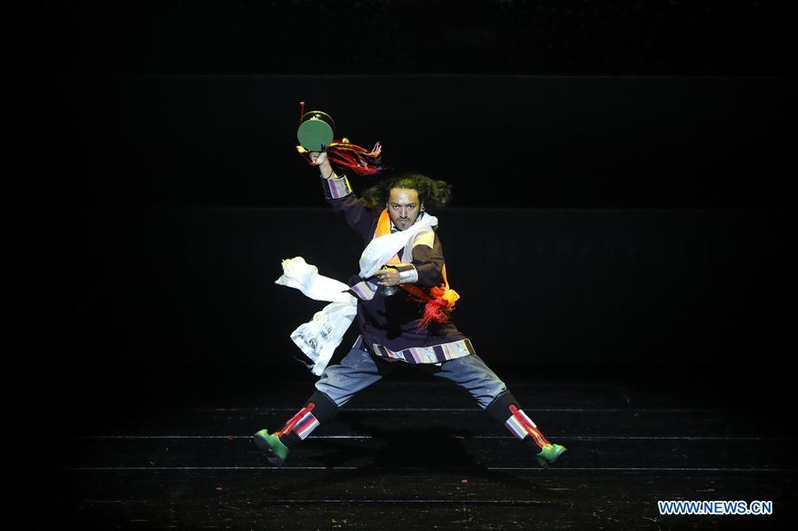 Dance drama featuring Guozhuang dance performed in Lanzhou, NW China