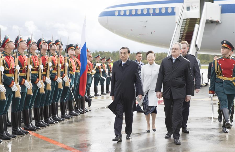 Chinese premier arrives in Russia for official visit