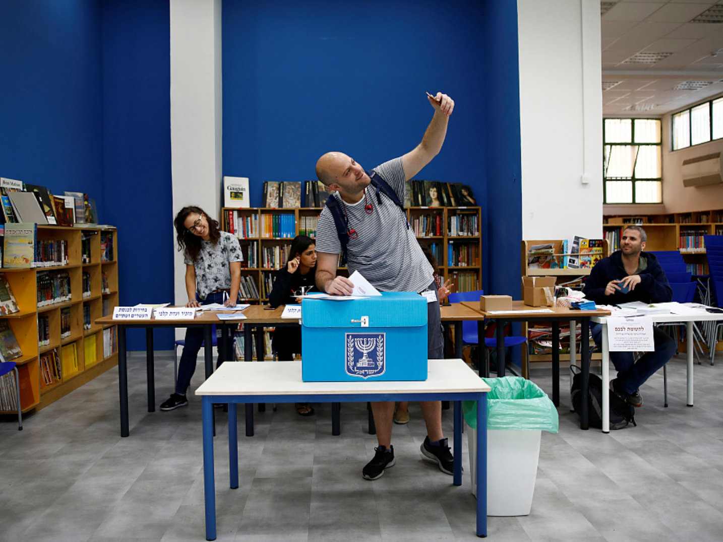 Israeli voters return to polls in 2nd election in 1 year