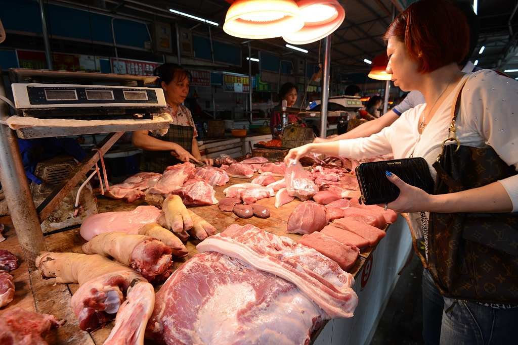China to release 10,000 tonnes of pork from state reserves