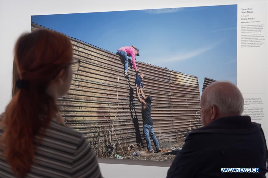People visit World Press Photo exhibition in Budapest, Hungary