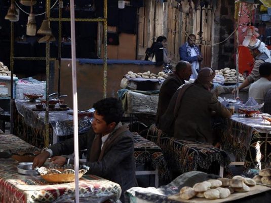 Daily life of Yemenis in Old City of Sanaa