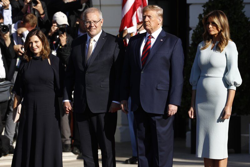 Australia's Morrison at WH for Trump's 2nd state visit