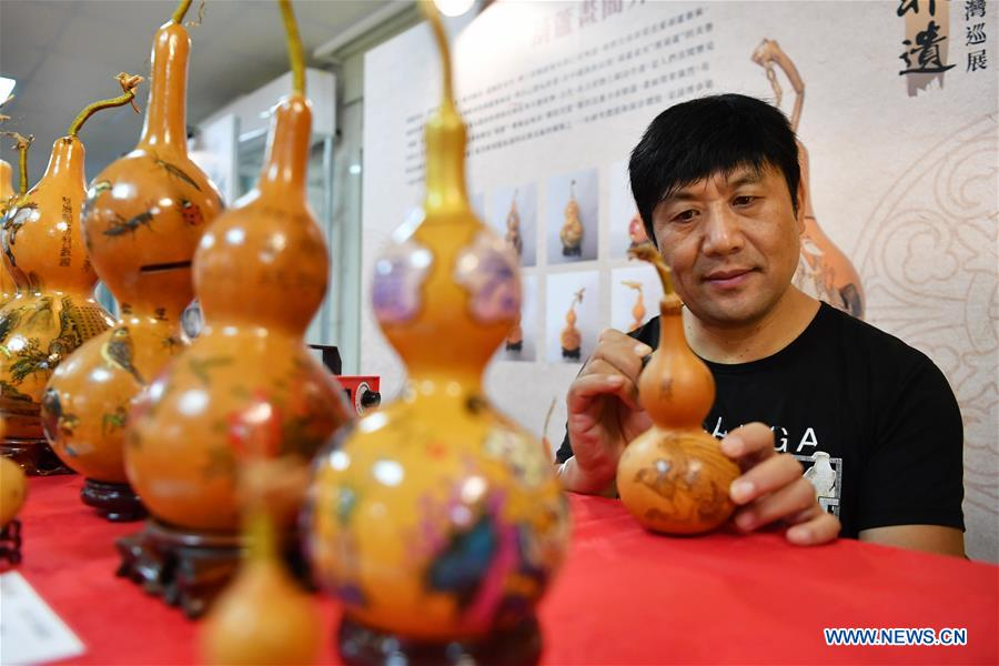 Exhibition of intangible cultural heritages of Zibo held in Taipei, China's Taiwan