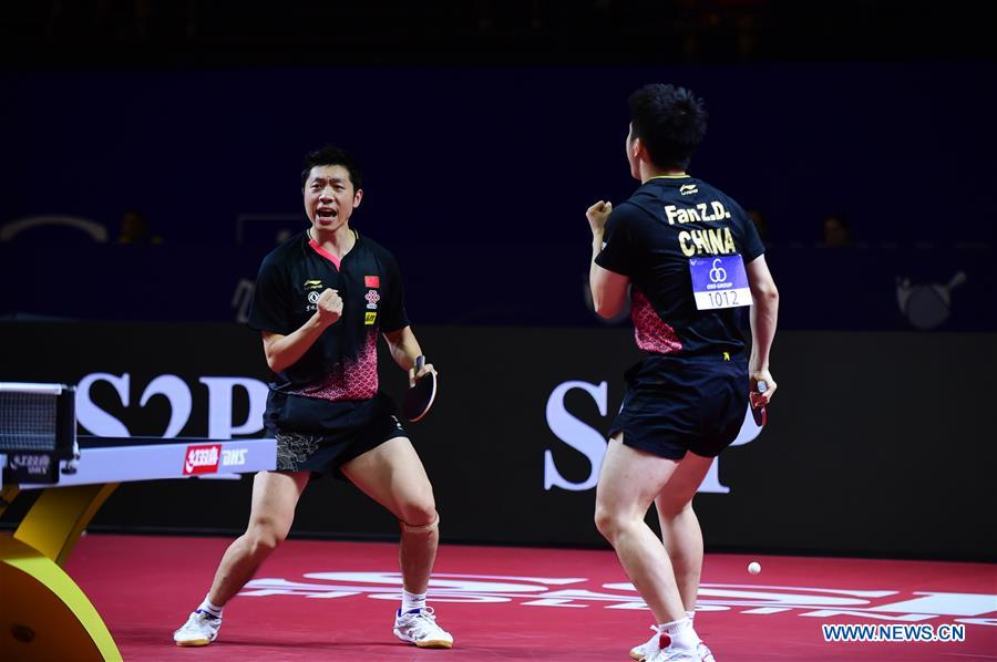 Highlights of men's doubles semifinal match at 2019 Asian Table Tennis Championship