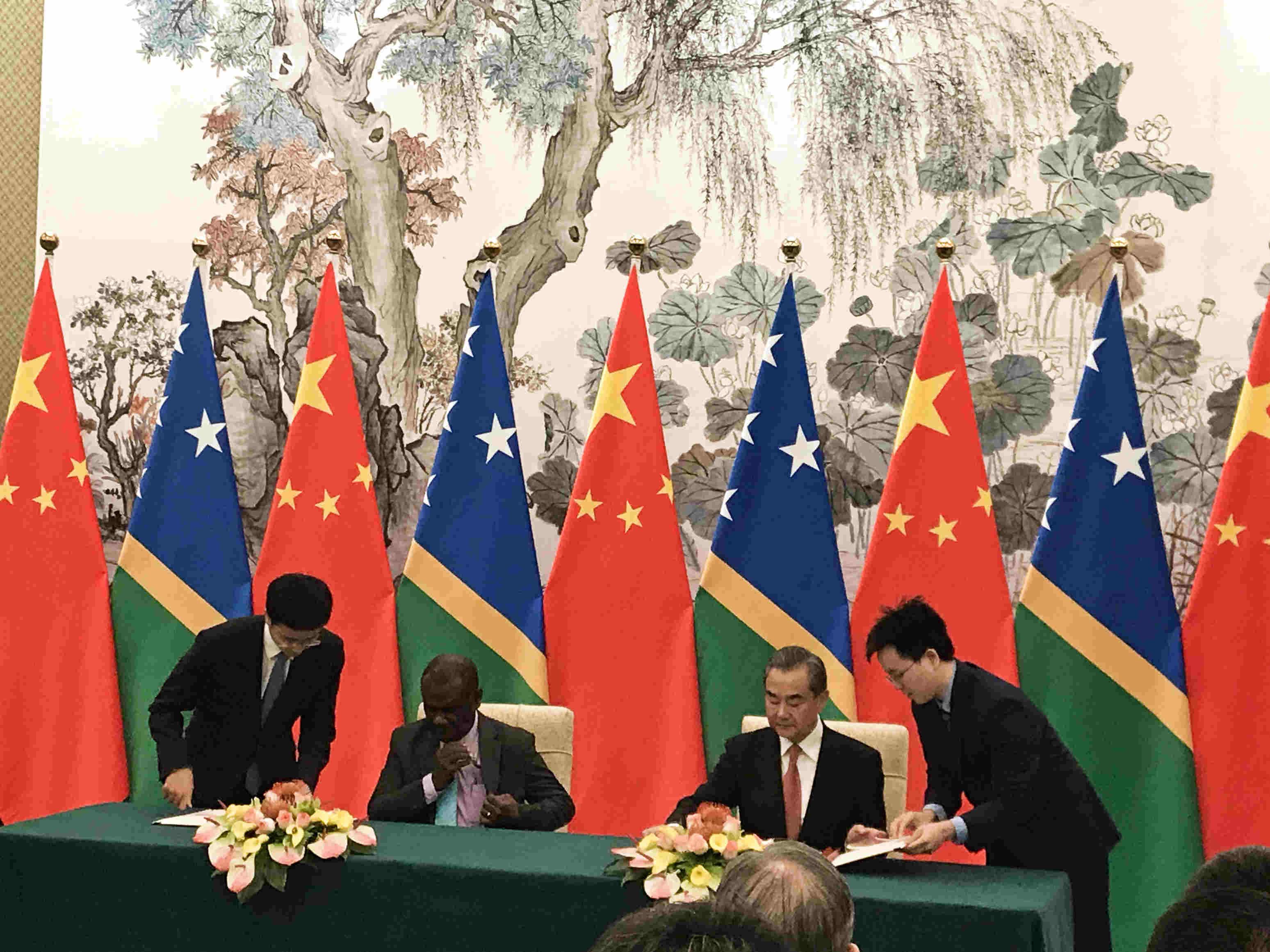 China, Solomon Islands establish diplomatic ties