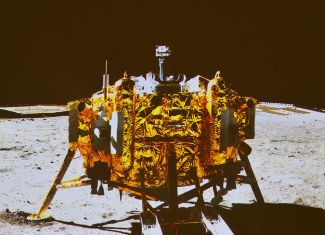 Chinese researchers conduct in situ measurement of lunar dust at Chang'e-3 landing site