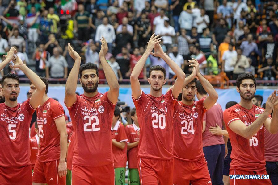Asian Men's Volleyball Championship semifinal match: Iran vs. South Korea