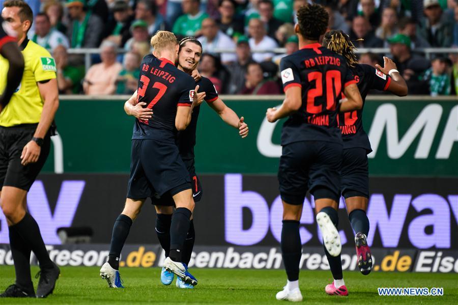 Bundesliga soccer match: Werder Bremen vs. RB Leipzig