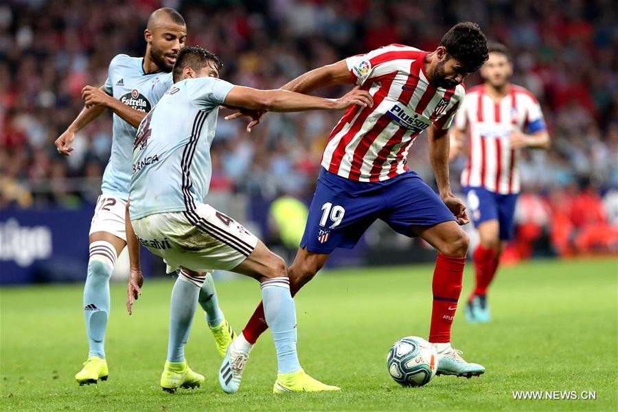 Spanish league match: Atletico vs. Celta
