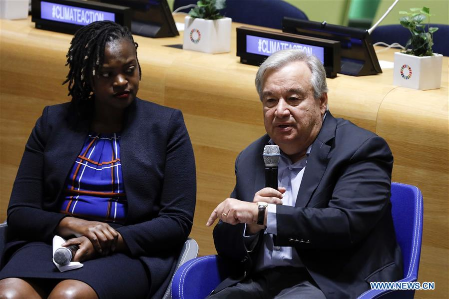 UN chief sees change in momentum of climate action thanks to youth movement