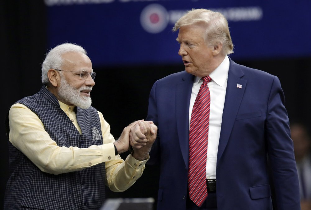 Trump joins India's Modi at Houston rally amid tensions in India-controlled Kashmir