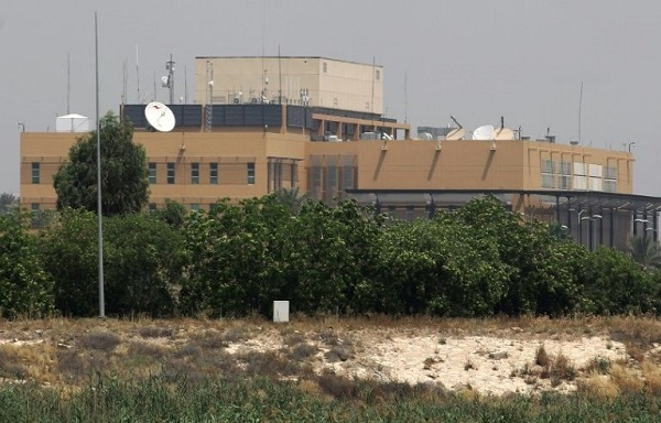Two rockets hit near US embassy in Baghdad