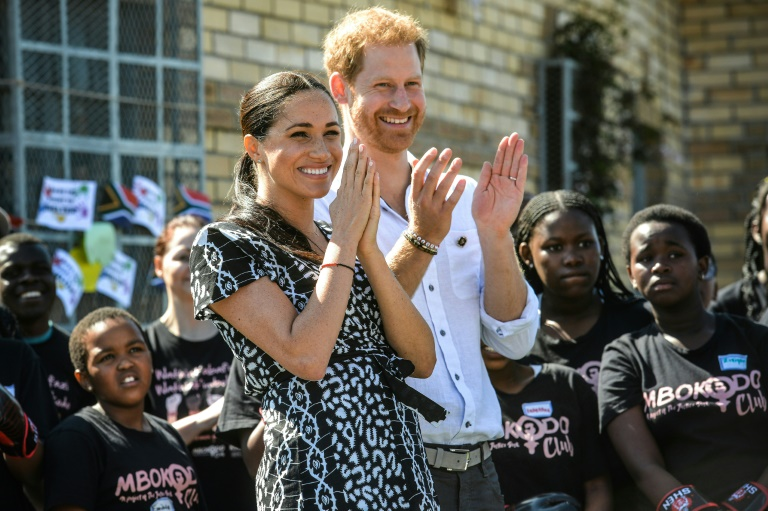 Harry and Meghan join S. Africa's fight against gender violence