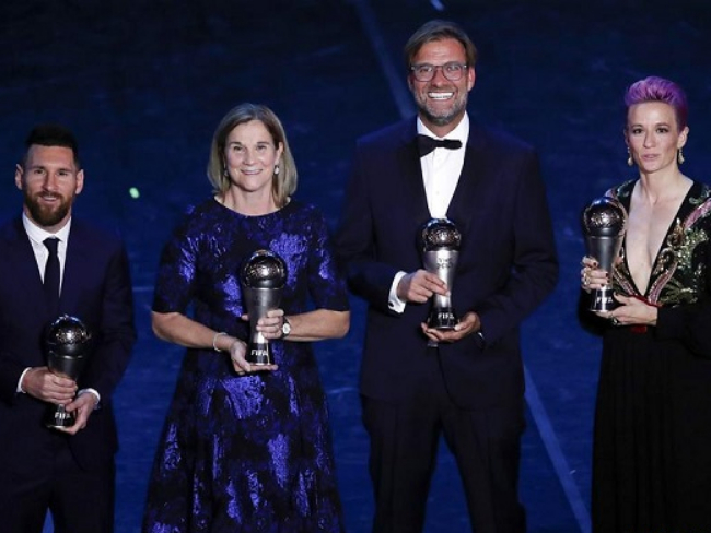 Messi claims top prize at Best FIFA Football Awards