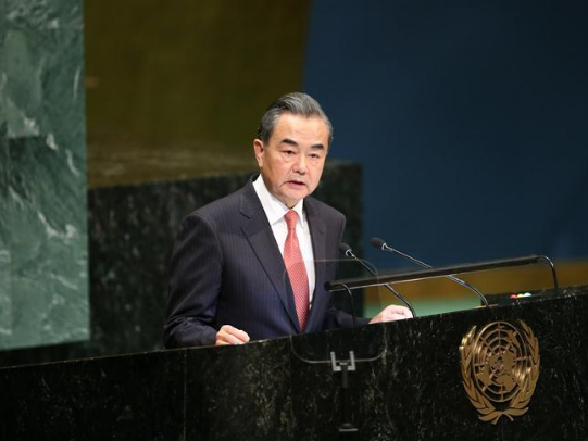 Chinese FM urges joint int'l efforts to tackle climate change