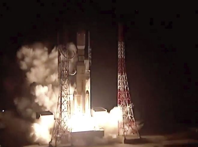 Japanese rocket blasts off with batteries for space station