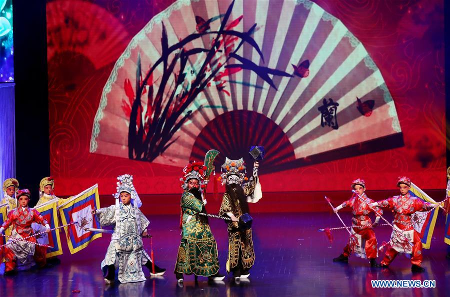 Students perform to celebrate 70th anniversary of PRC founding in Shanghai