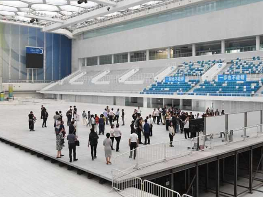 Foreign journalists visit venues for 2022 Beijing Winter Olympic Games