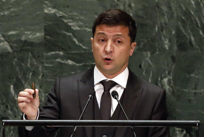 Entangled in US scandal, Ukraine's leader speaks at the UN