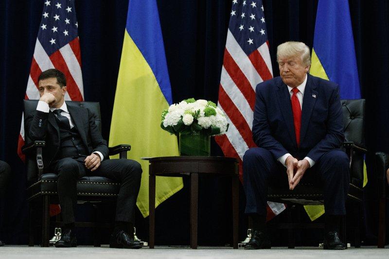 Ukrainian leader bristles at release of Trump transcript