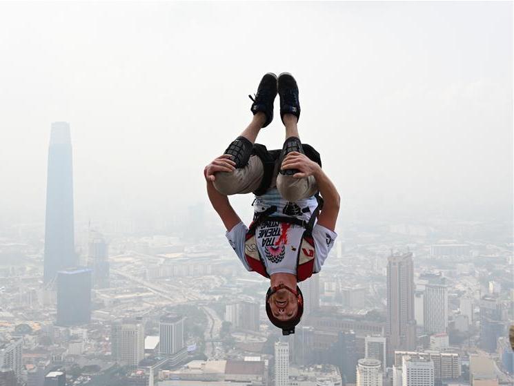 Annual Int'l Kuala Lumpur Tower Base-Jump event held in Malaysia