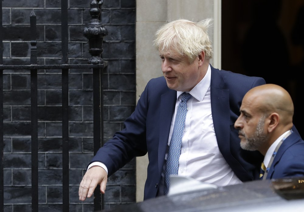 UK's Johnson uses fiery strategy with election in mind