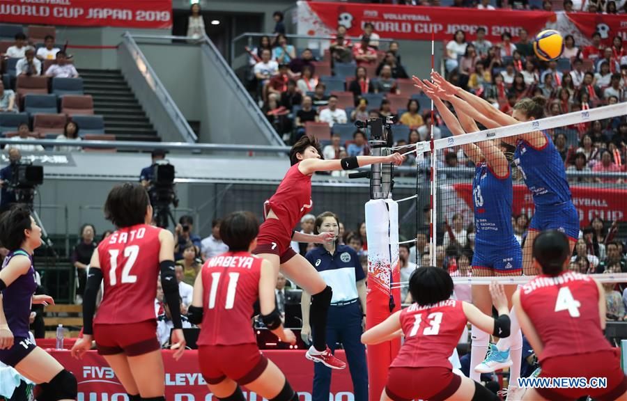 FIVB Volleyball Women's World Cup round robin match: Serbia vs. Japan