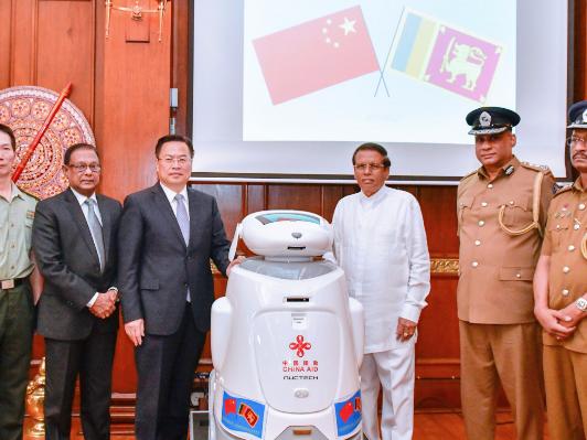 China donates LKR 765 million more for emergency security equipment to Sri Lanka
