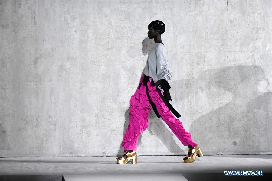 Creations of Dries Van Noten presented during Paris Fashion Week