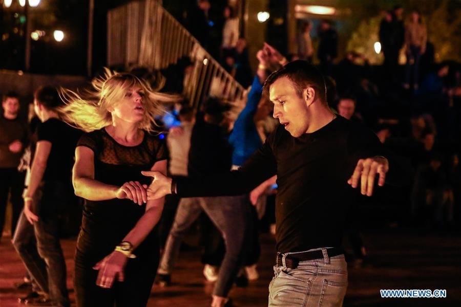 In pics: outdoor dancing party in Moscow, Russia