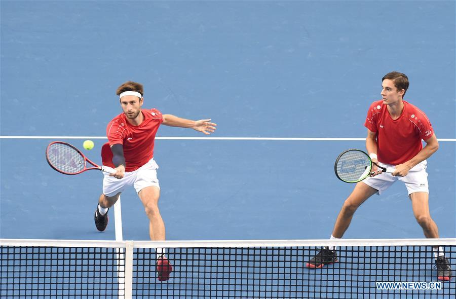 Men's doubles final match of ATP Zhuhai Championships: Belgium vs. Brazil