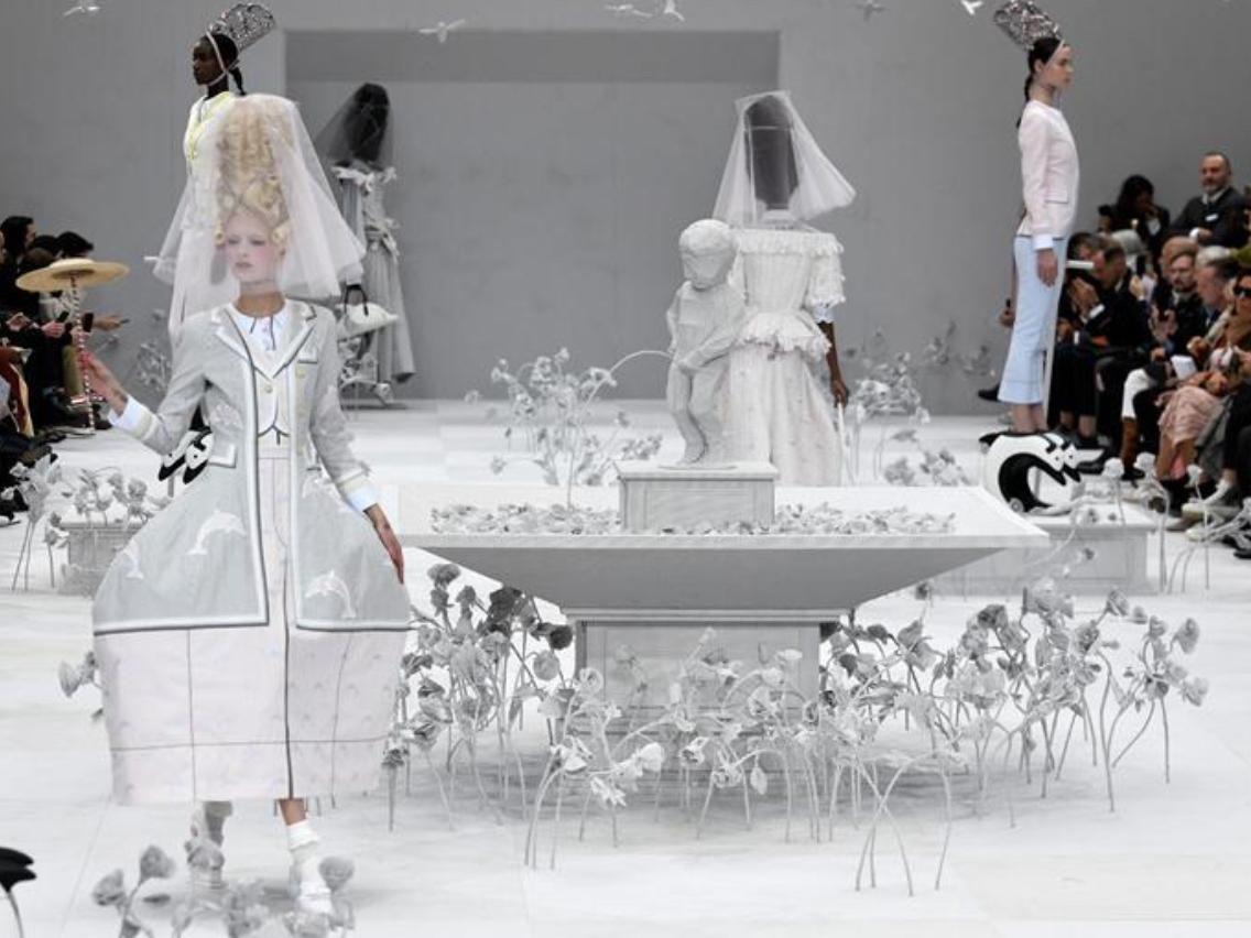 Creations of Thom Browne presented during Paris Fashion Week