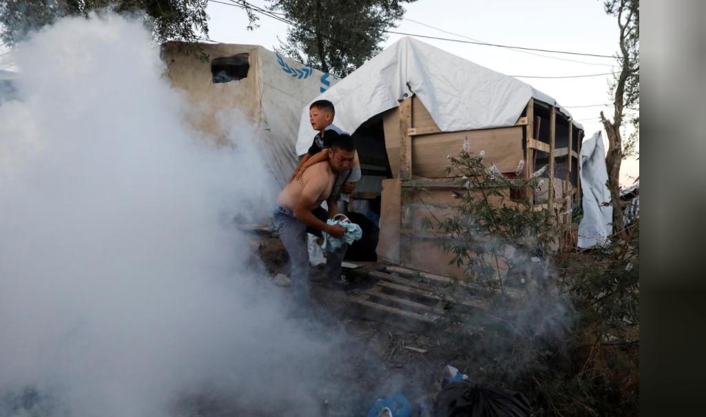Fire breaks out inside refugee camp on Greek island, two dead: report
