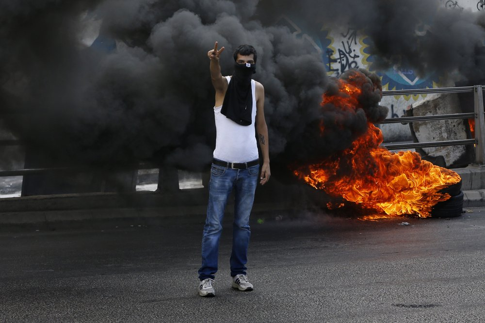 Protests in Lebanon's capital over worsening economic crisis