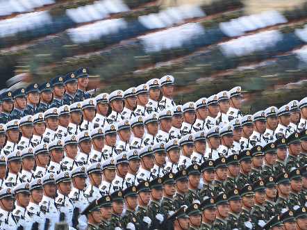 Chinese soldiers ready for National Day celebrations