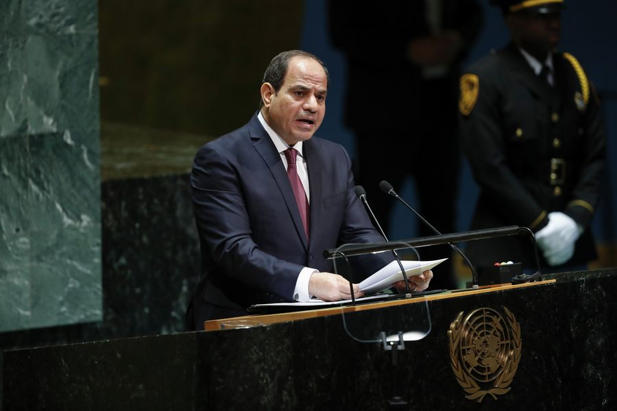 Egypt's president sends greetings to China on National Day
