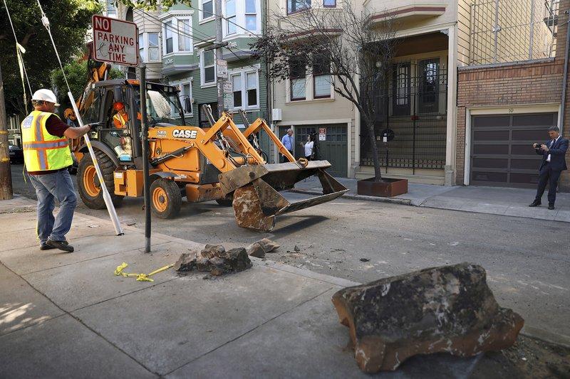Fed-up San Francisco neighbors use rocks to block homeless