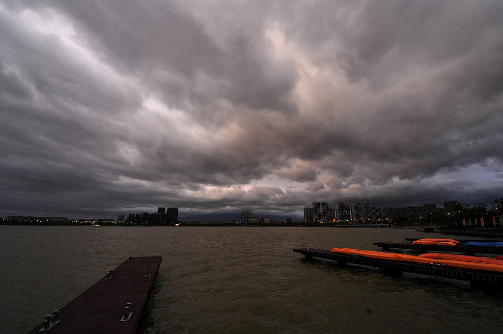 Typhoon Mitag lands in east China